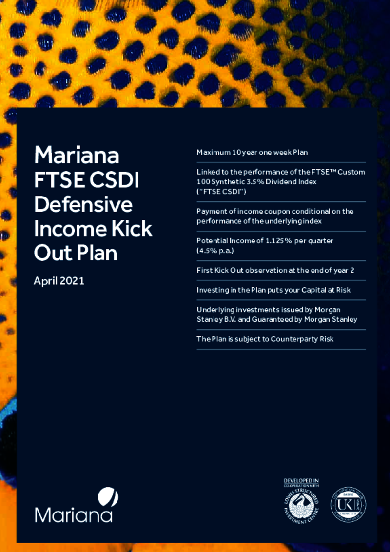 Mariana FTSE CSDI Defensive Income Kick Out Plan – March 2021
