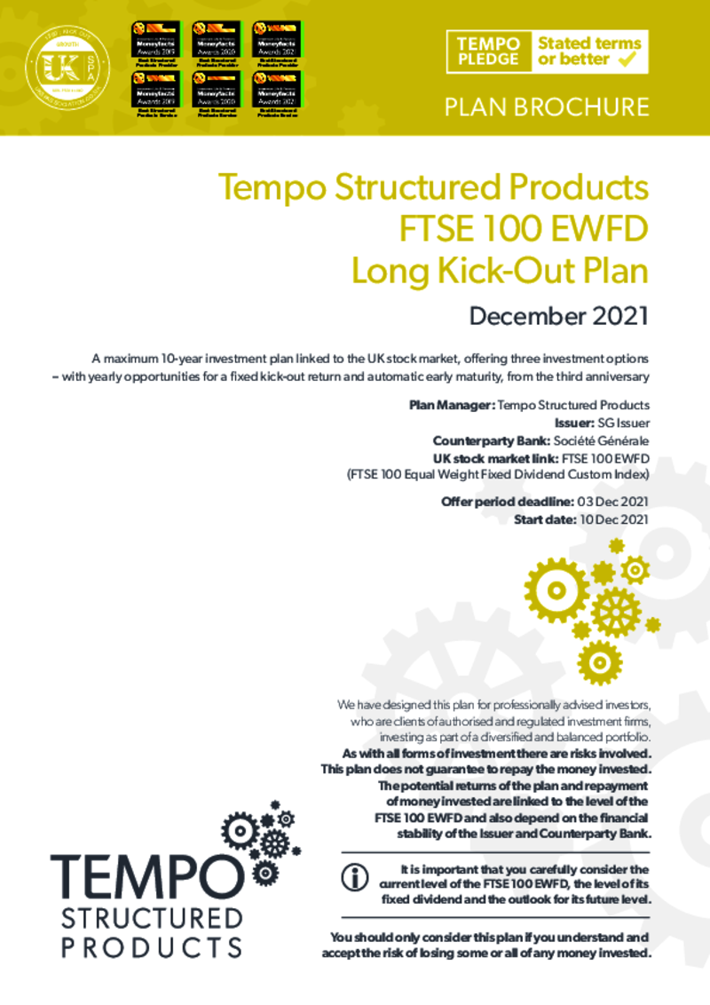 Tempo FTSE 100 FDEW Long Kick-Out Plan January 2021 : Option 1