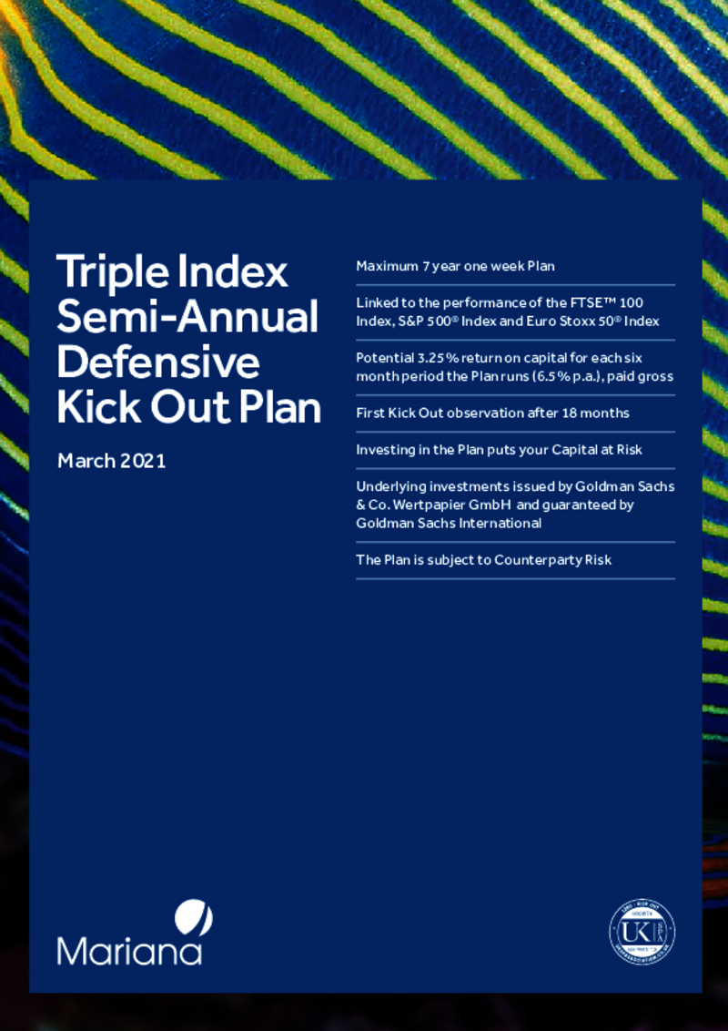 Mariana Triple Index Semi-Annual Defensive Kick Out Plan - March 2021